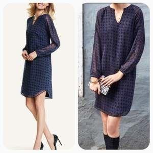 CAbi Harlequin geo print shirt dress 3/4 sleeves